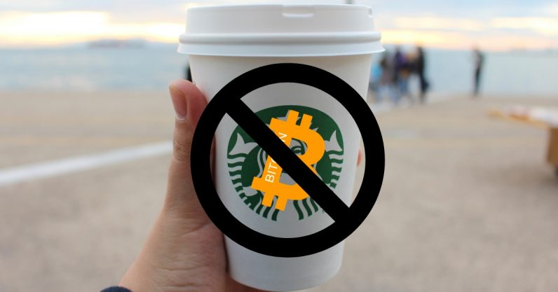 Starbucks Bitcoin cryptocurrency