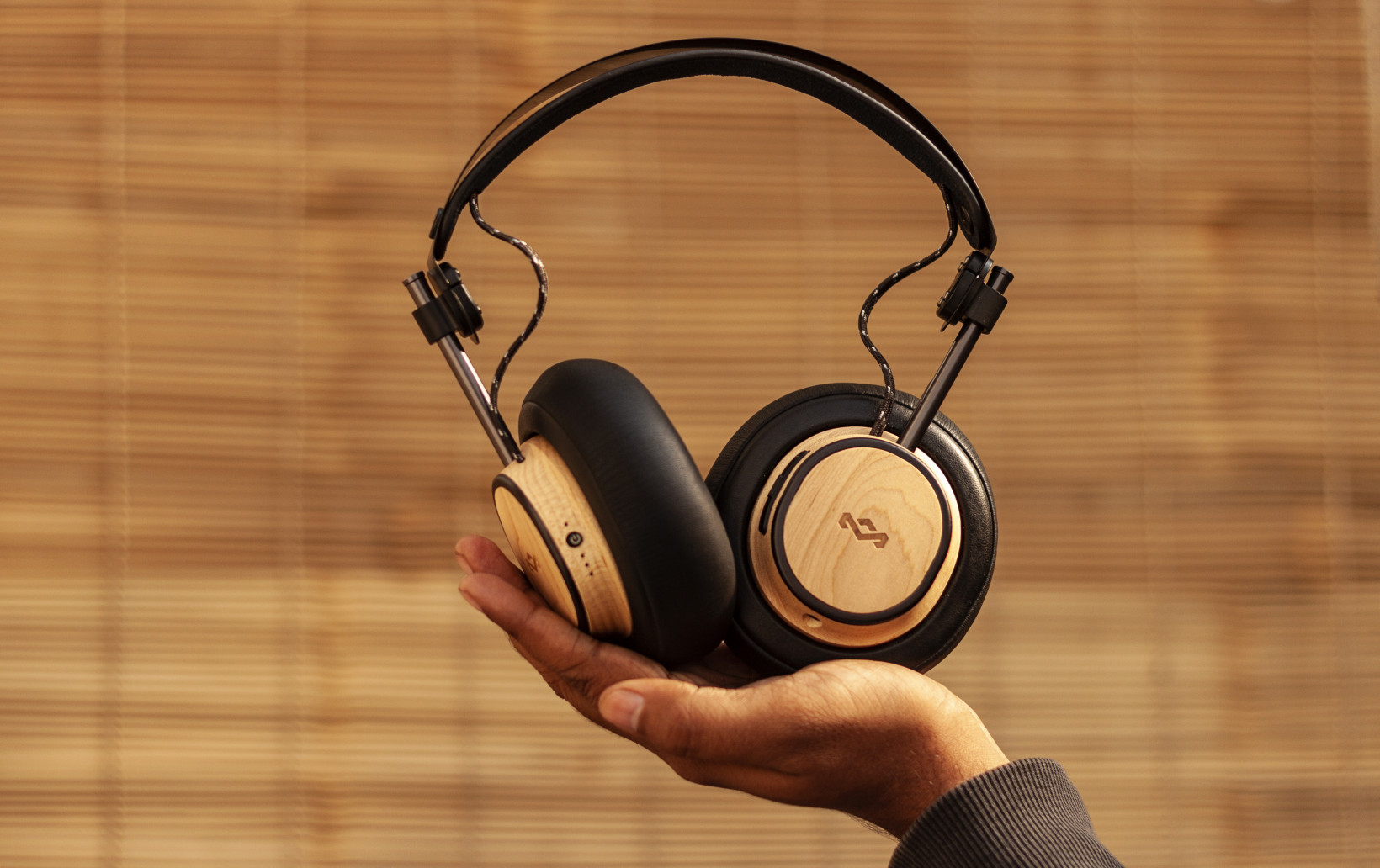 The Exodus headphones feature sustainably sourced wood with a light finish, which looks distinctive without being overly loud