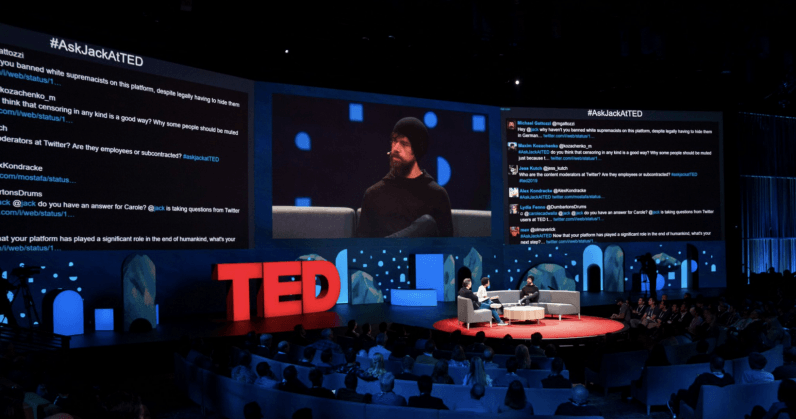 Twitter users trolled Jack Dorsey so hard they had to shut off the screen during his TED Talk [Update] ...