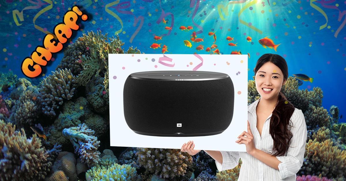 CHEAP: This beefy JBL Link smart speaker is now HALF PRICE OMFG