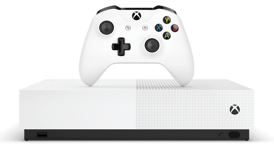 The Xbox One S All-Digital Edition is practically identical to the standard Xbox One S, save for the lack of a disc drive