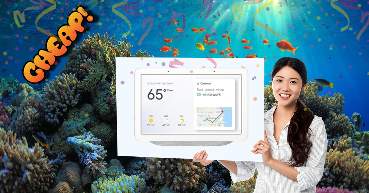 CHEAP: Smarten up your house with a Google Home Hub for just $87 (down from $149)