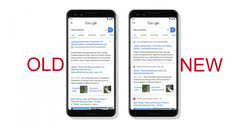 Google Search on Mobile Gets Sneakier Ads, Website Branding