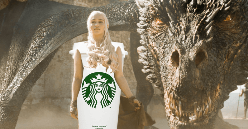 Even I, a fool, could photoshop the coffee cup out of the latest GoT episode