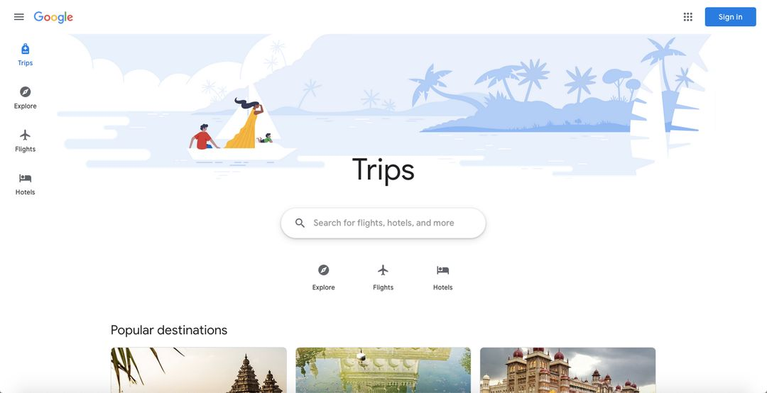 Google is bundling Trips, hotel search and Flights into a single site; if only it were also a mobile app with offline support