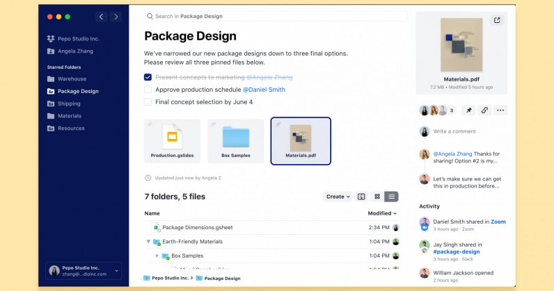 The new Dropbox redesign turns the app into a productivity launchpad