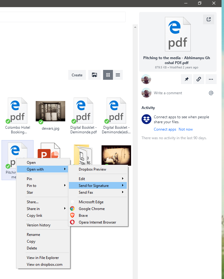 Dropbox now lets you sign PDFs or fax them (yup) from the desktop app