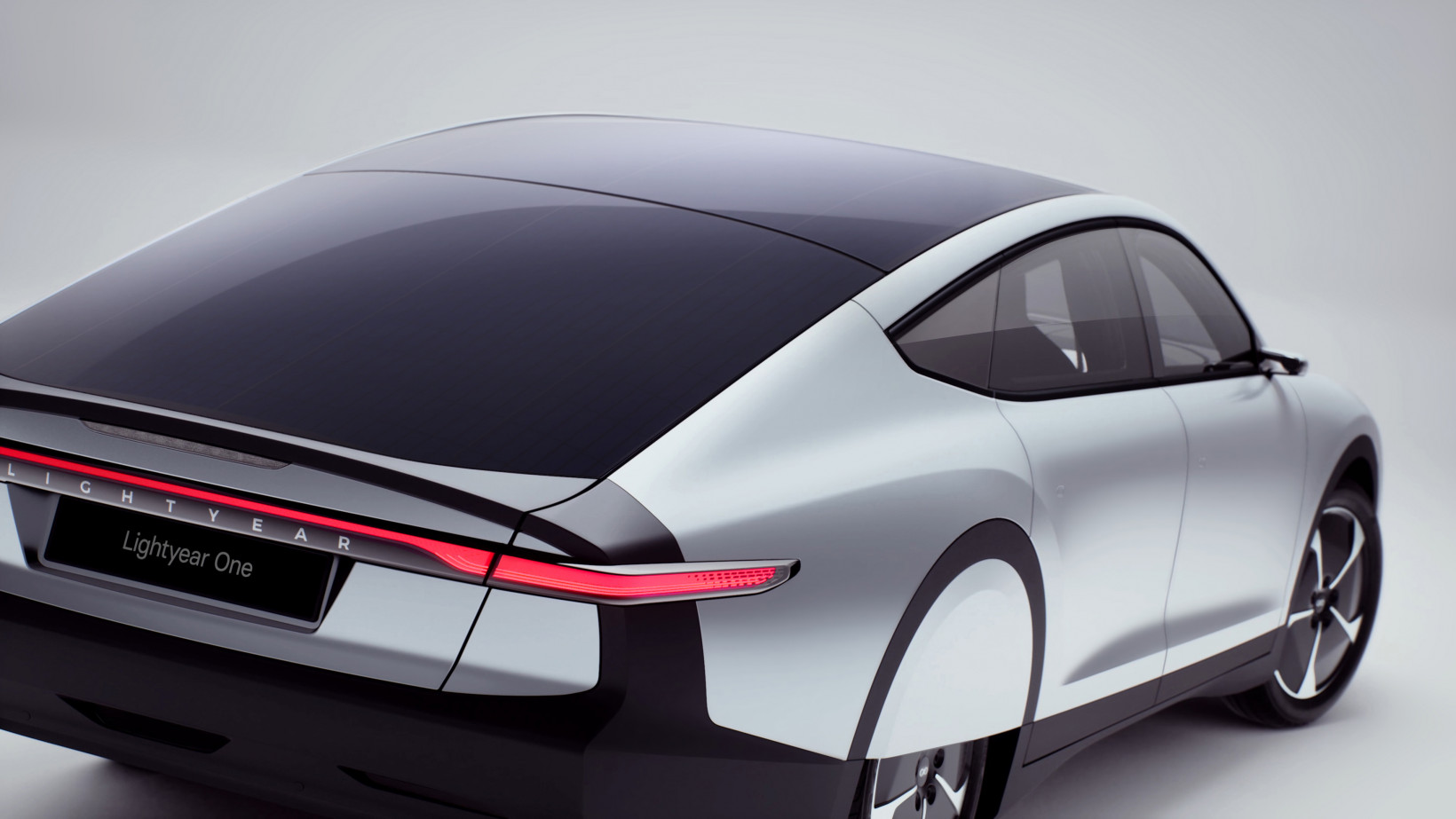 The Lightyear One has five square meters of solar cells across its roof and hood, so it can draw enough power per hour for 12km range