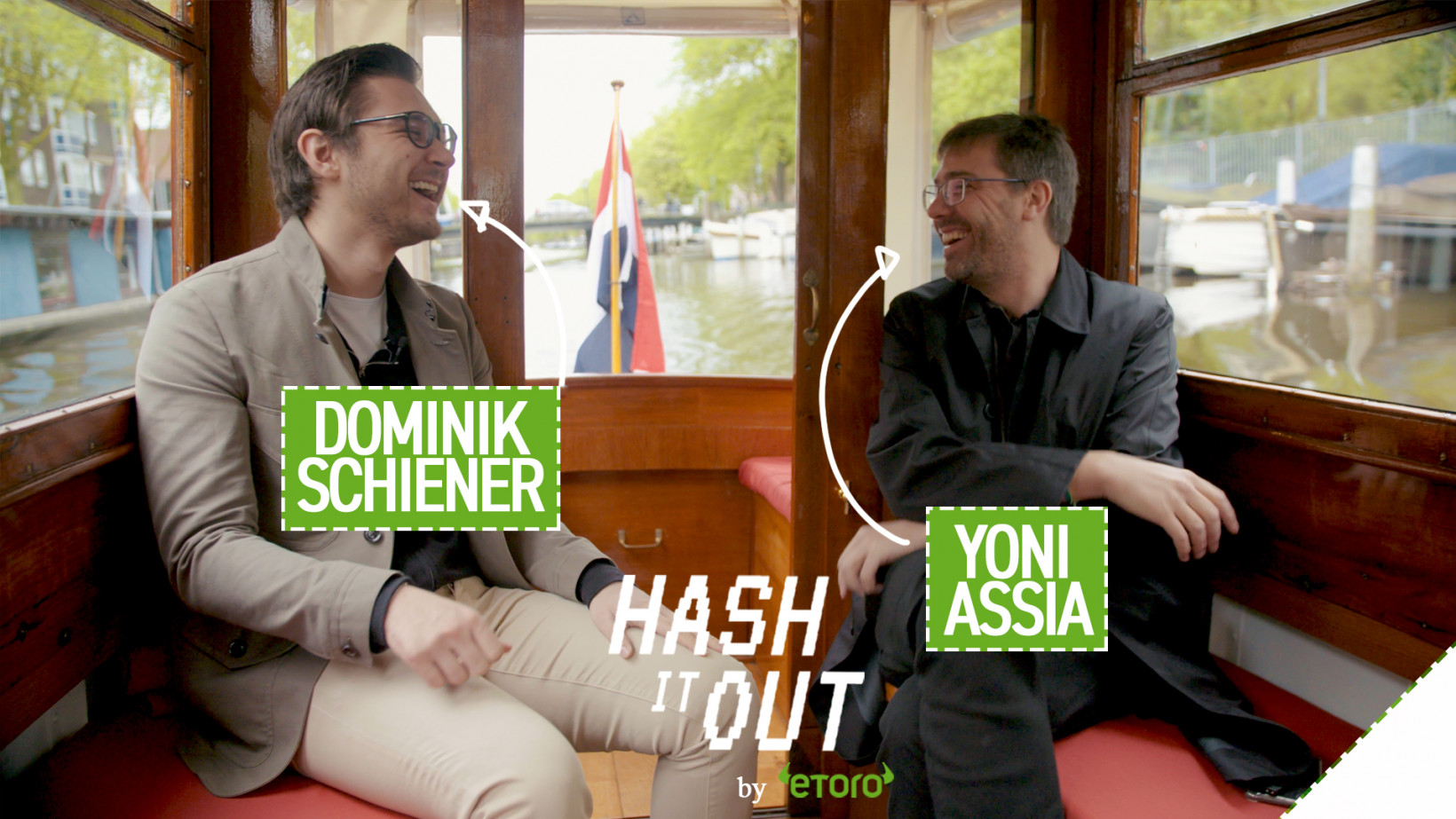 Watch the first episode of 'Hash It Out' with eToro's Yoni Assia and IOTA's Dominik Schiener