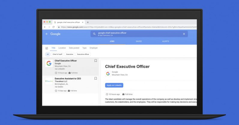 LinkedIn fixed a flaw that let someone post a job opening for Google's CEO position