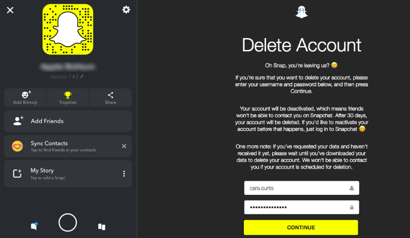 Here's how to delete or deactivate your Snapchat account
