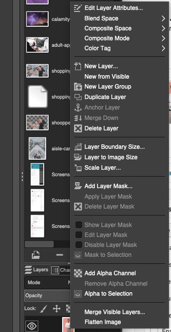 alpha channel, add, layers, mask