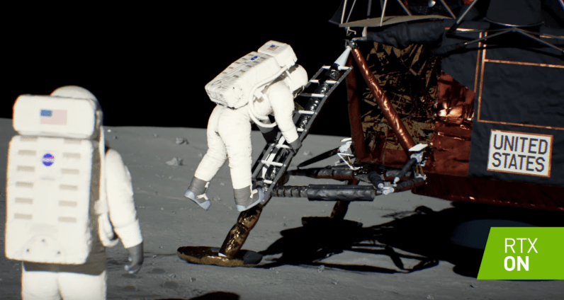 Nvidia replicated the moon landing with RTX graphics