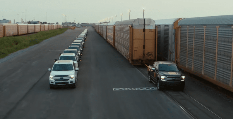 Watch Ford's electric F-150 tow a million+ pounds like nobody's business