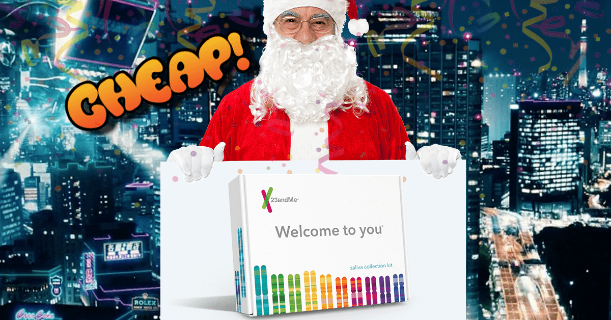 PRIME CHEAP: Discover if you're 0.1% extraterrestrial with $100 off a 23andMe DNA kit