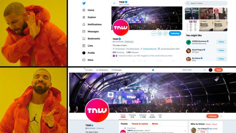 twitter, new design, old design, chrome, firefox, switch