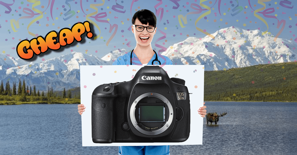 CHEAP: Slap yourself. The Canon EOS 5DS DSLR Camera is 64% off