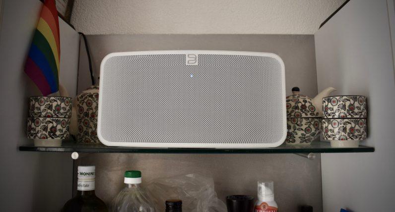Bluesound Pulse Mini 2i shelves kitchen