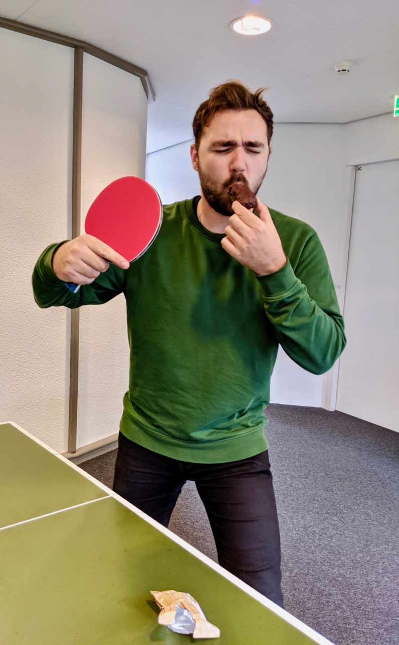 table tennis JustCBD protein bar