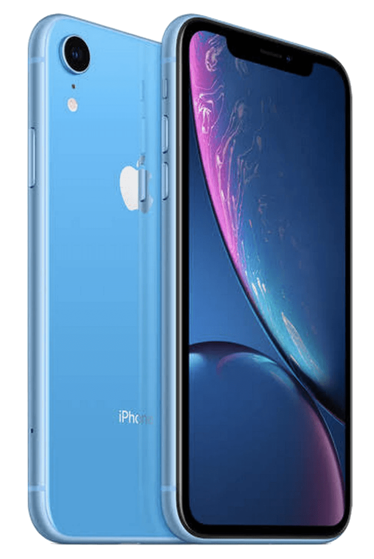 iphone xr blue front and back