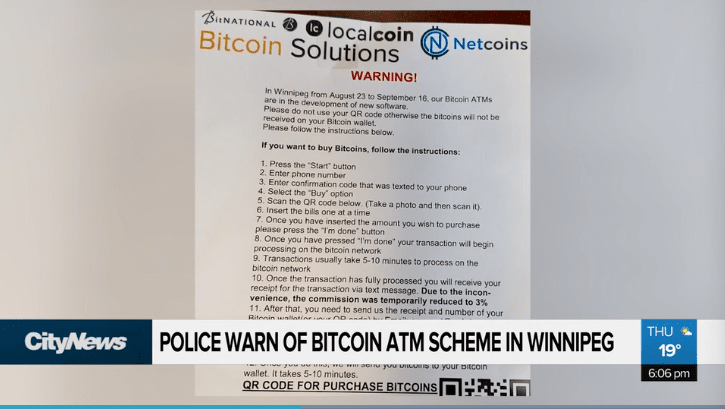 Bitcoin ATM, winnipeg, scam