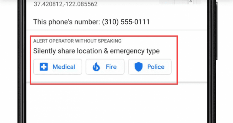 Google will help you get aid from 911 without speaking