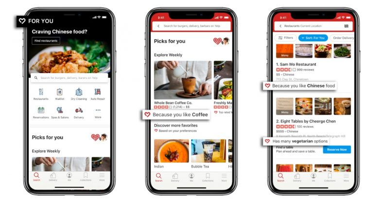 Yelp now lets you personalize its app based on lifestyle and diet