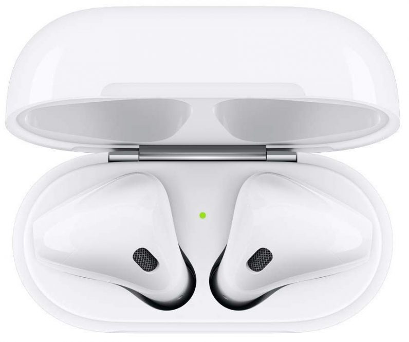 apple airpods top view