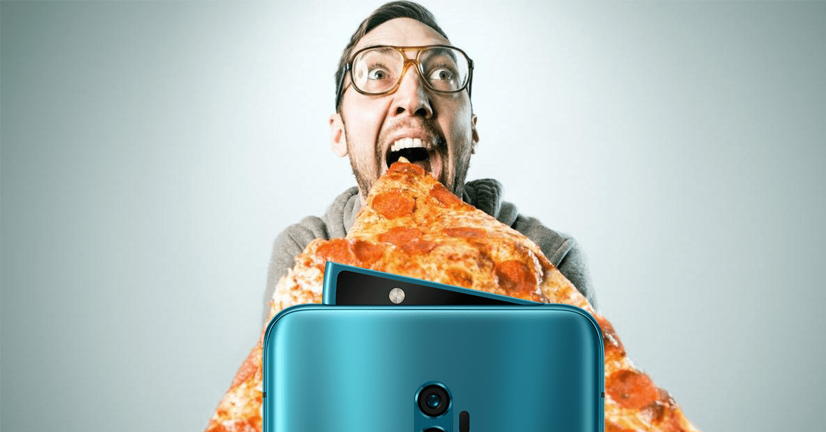 Mmm, the Oppo Reno 10x Zoom (with its pizza-slice selfie camera) is a tasty treat