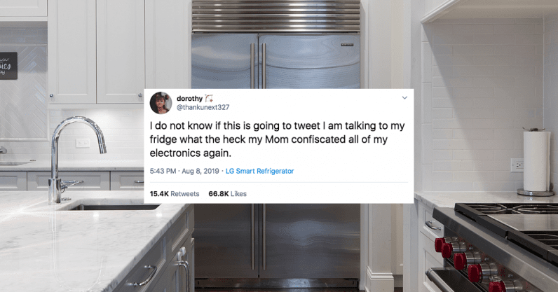 Teen finds way around parents' tech confiscation: Tweeting from the smart fridge (Update: bogus) ...