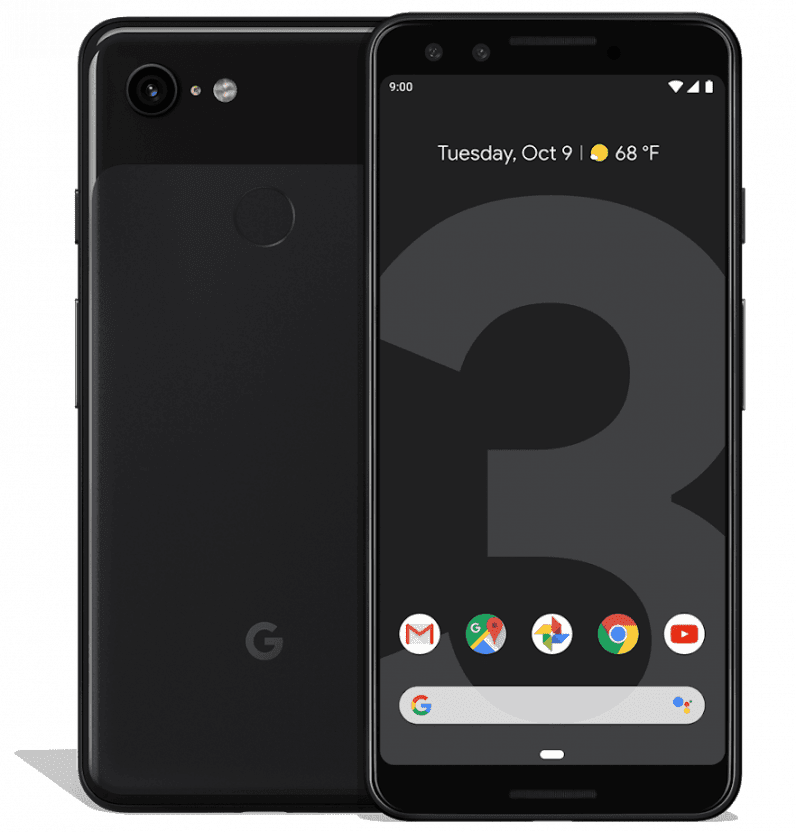 pixel 3 black front and back