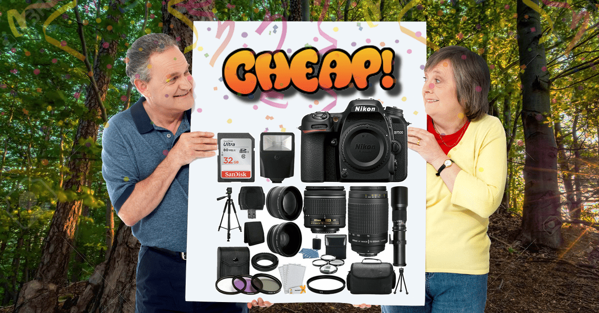 CHEAP: Ditch the amateur photography league with $1,610 off the Nikon D7500 megakit