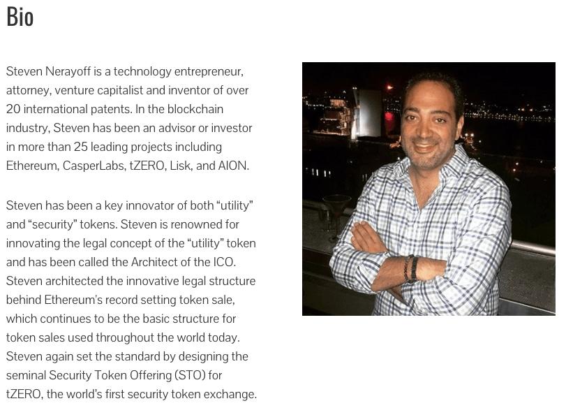 Nerayoff's website biography