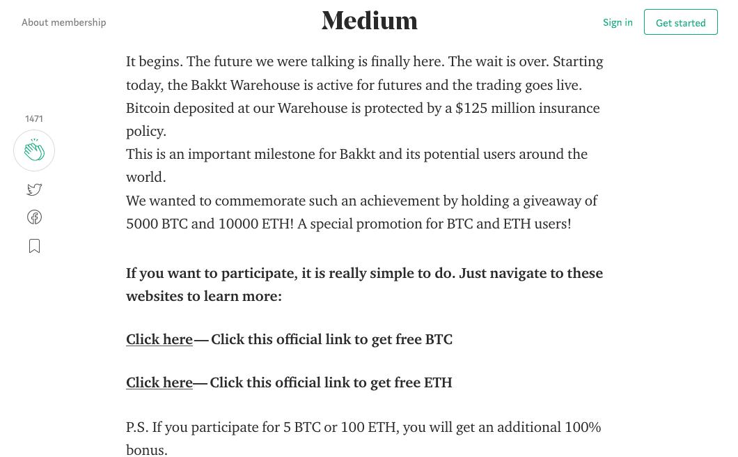 Bakkt, Futures, bitcoin, etheruem, giveaway