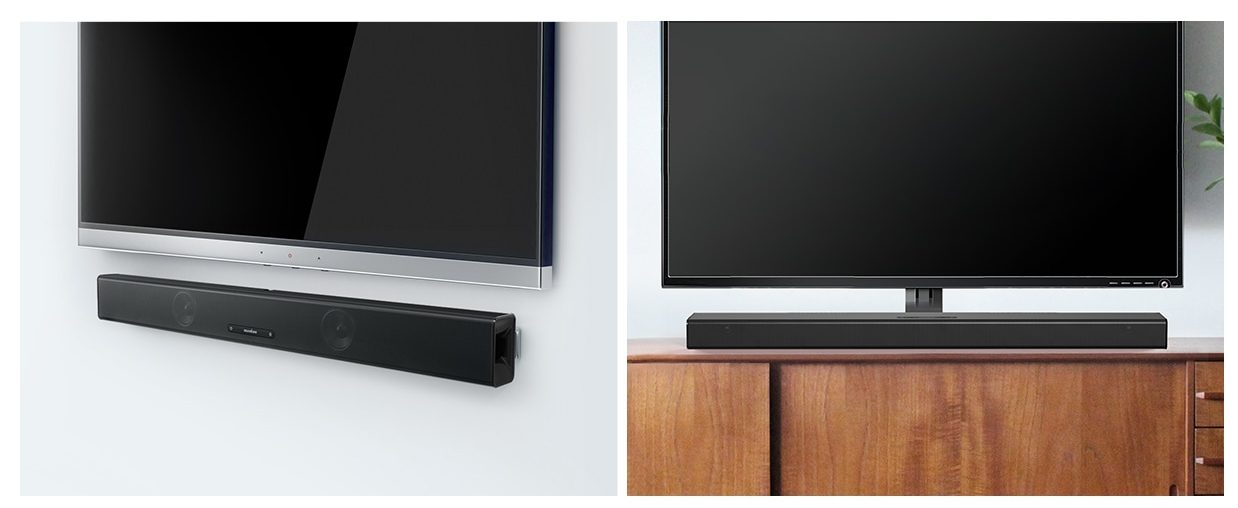 Anker's Soundcore Infini soundbar is right at home beneath your TV, or mounted on the wall