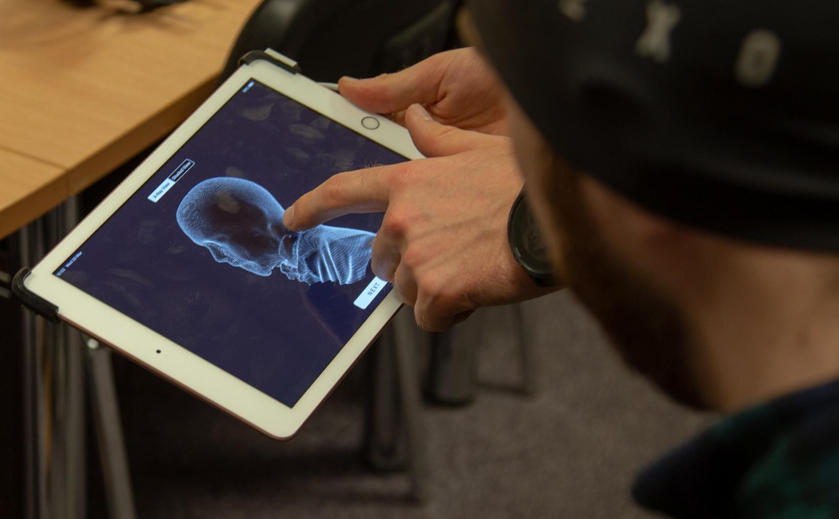 3D model, head scan