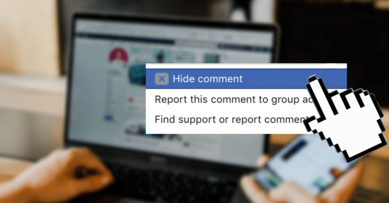 Here's how to hide and report comments on Facebook