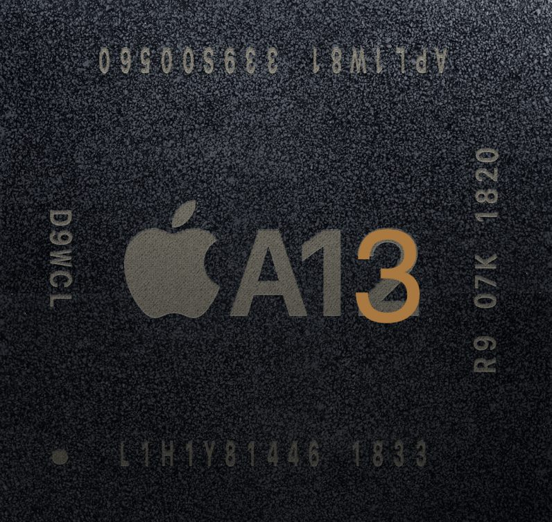 Apple A13 chip edited