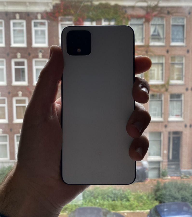 Google Pixel 4 rear of device