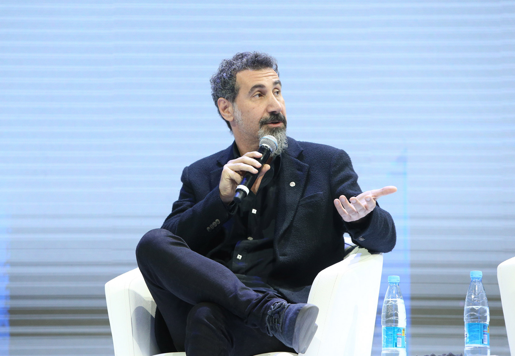 Musician and Activist Serj Tankian speaks at the Technology, Society & Democracy panel at WCIT 2019