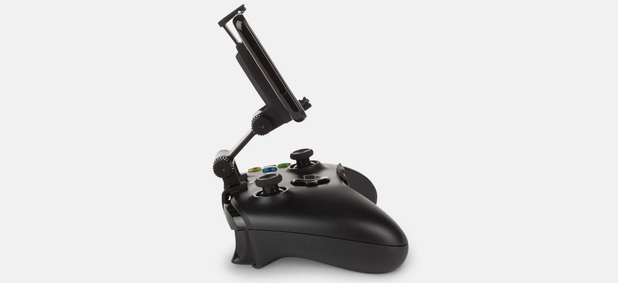 PowerA's controller Clip has two articulating points that you can adjust to angle your phone the way you like