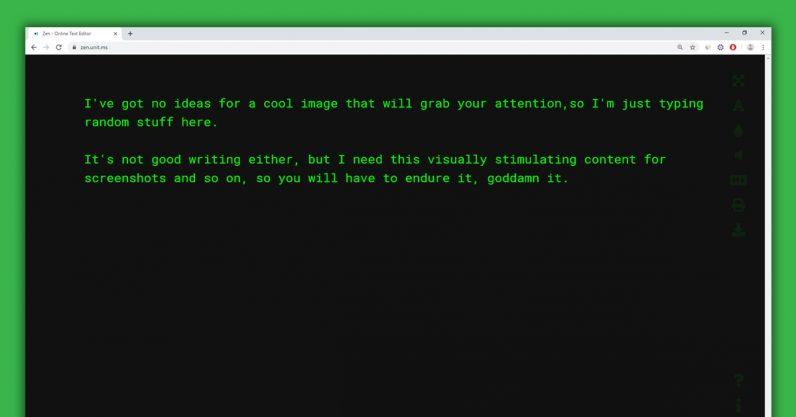 zen, text editor, browser, minimalist