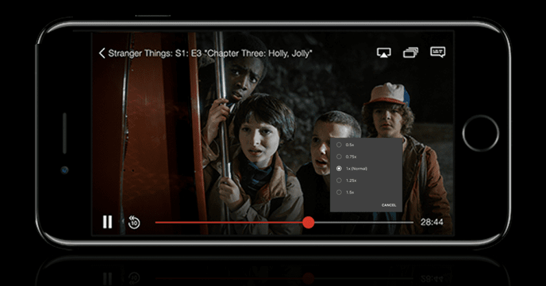 Netflix is testing a feature that lets you speed up boring episodes