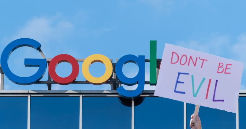 Google employees protest suspension of two activist colleagues
