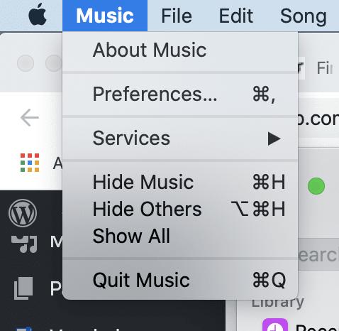 Preferences macOS Music app