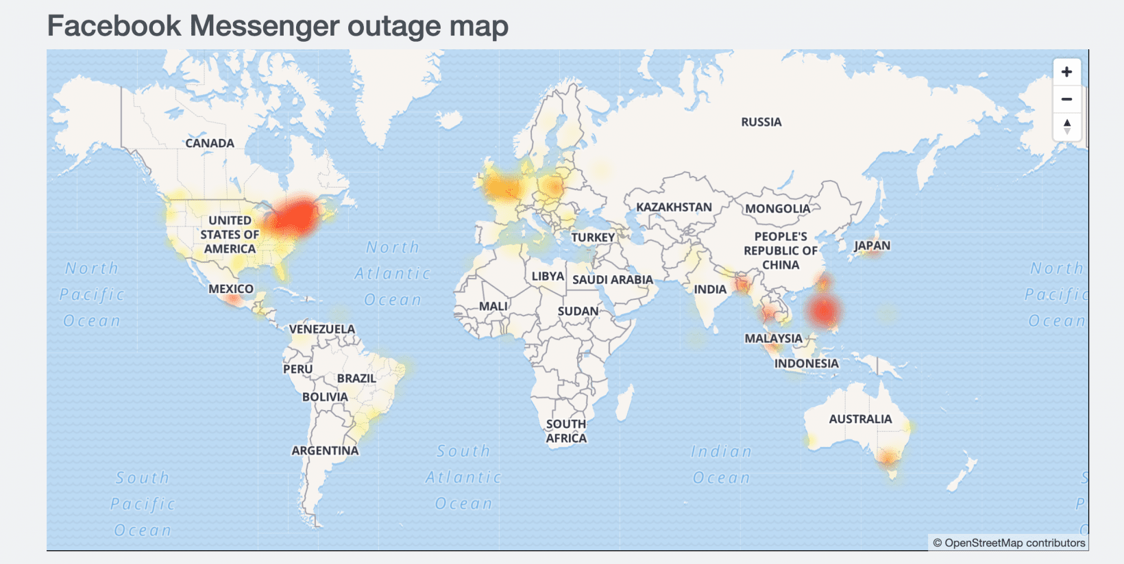 Facebook, Instagram, and Messenger are down for many around the world