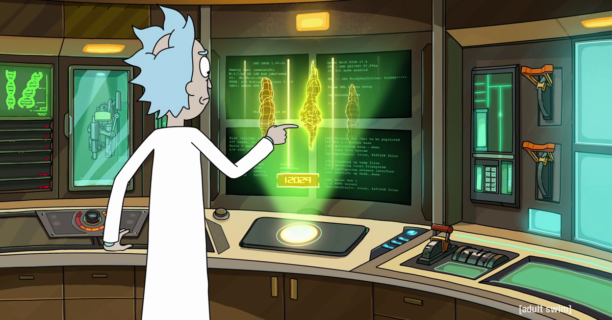 We know where Rick (from Rick and Morty) stands on Intel vs AMD debate