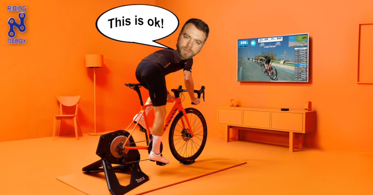 zwift, riding nerdy, cycling, indoor, bikes, tech, tacx, gaming, online