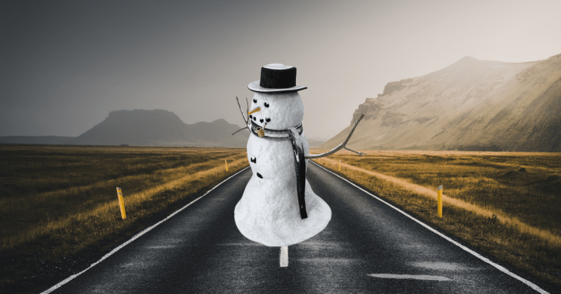 How do you teach a car that a snowman won't walk across the road?