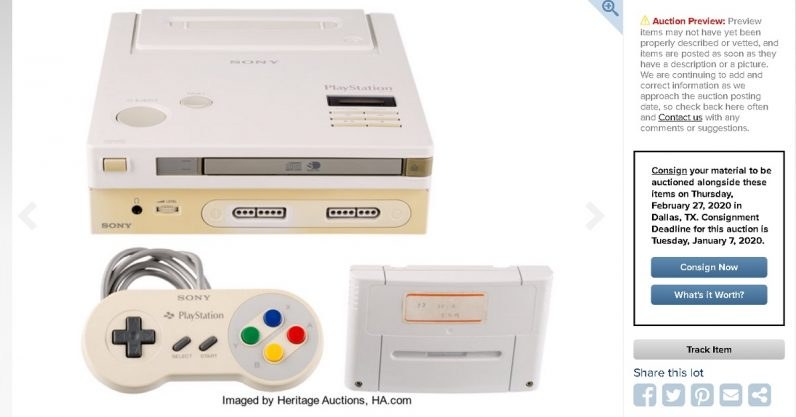 Prototype Nintendo Play Station to Be Auctioned